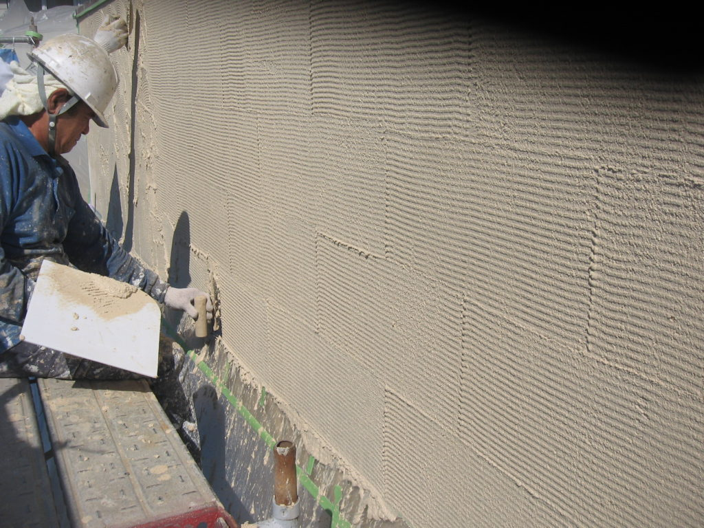 外壁のジョリパットの仕上げ